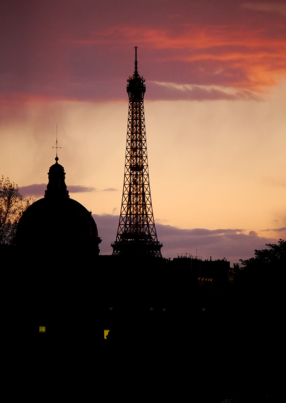 Paris Eiffel Tower at Sunset