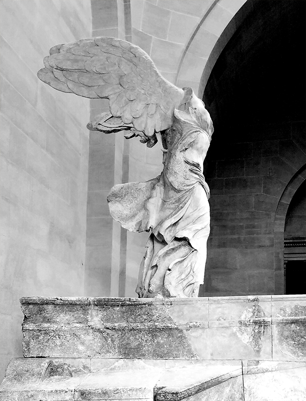 Winged Victory-Monochrome