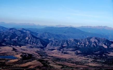 Rocky Mountains, Colorado from a Hot Air Balloon