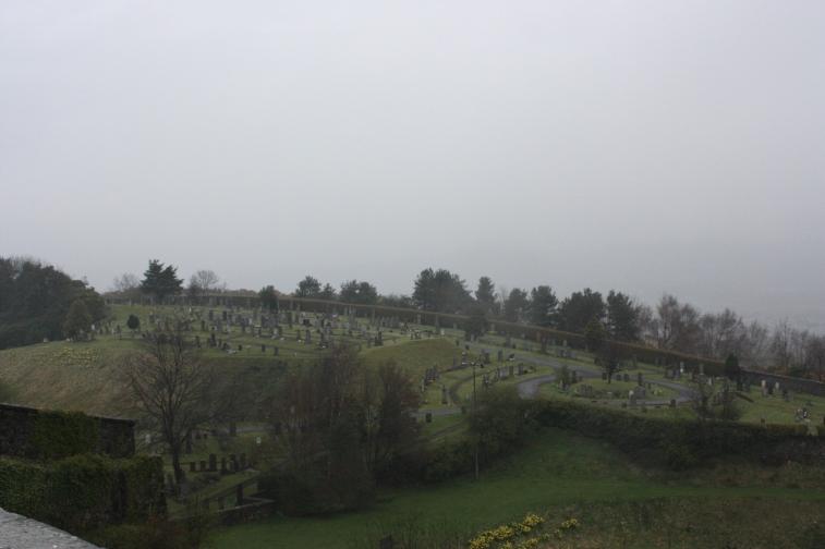 Fog over Sterling Castle Cemetary
