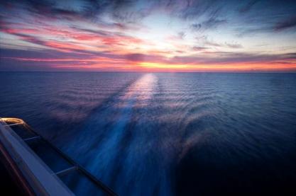 Over the Caribbean Ocean