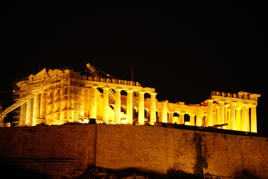 From my apartment window in Athens the Parthenon